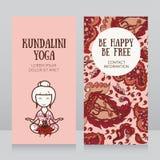 Mall för kort för affär för kundaliniyogastudio stock illustrationer