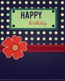 Mall för kort för lycklig födelsedag Fotografering för Bildbyråer