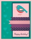 Mall för kort för lycklig födelsedag Royaltyfri Foto