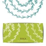 Mall för kort för yogastudiogåva arkivfoto