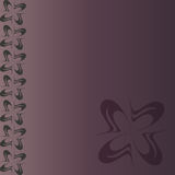 Mall för kort, inbjudningar, baner på en lila bakgrund Arkivfoton