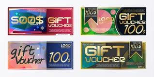 Mall för kort för presentkortbroschyrmall med valutavecto Royaltyfri Fotografi