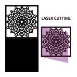 Mall för laser-klipp Arkivfoto