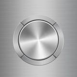 Mall för ljudsignal kontrollbord med knappar runt om den huvudsakliga knappen stock illustrationer