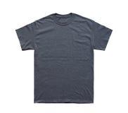 Mall för ljung för tom T-skjortafärg mörk royaltyfri foto