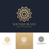 Mall för logo för boutiquehotell Royaltyfri Fotografi