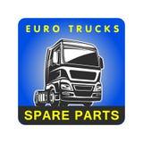 Mall för logo för frakter för lastbilreservdellast Arkivbild