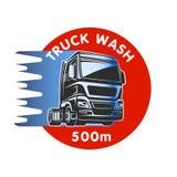 Mall för logo för frakter för lastbilwashlast Royaltyfri Fotografi