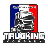 Mall för logo för lastbillastFrankrike frakter Royaltyfri Bild