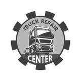 Mall för logo för reparation för lastbillastfrakter Royaltyfria Bilder