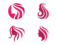 Mall för logo för skönhetkvinnasymbol Royaltyfria Bilder