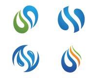 Mall för logo för vattenliten droppe Royaltyfri Foto