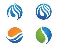 Mall för logo för vattenliten droppe Arkivbild