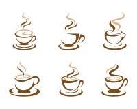 Mall för logo för kaffekopp Royaltyfria Bilder
