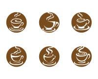 Mall för logo för kaffekopp Arkivbild