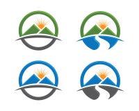 Mall för M High Mountain Logo Arkivfoton