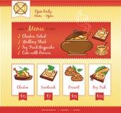 Mall för matrengöringsduk Royaltyfri Foto