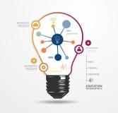 Mall för minsta stil för ljus prick för modern design infographic royaltyfri illustrationer