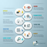 Mall för minsta stil för modern design infographic med nummer stock illustrationer