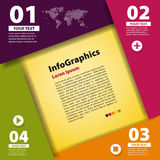 Mall för modern design för infographic vektor illustrationer