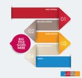 Mall för modern design för infographic Royaltyfri Fotografi