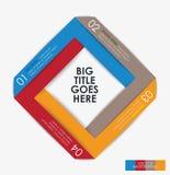 Mall för modern design för infographic fyrkant Arkivfoto
