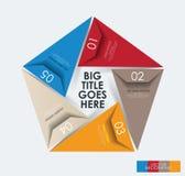 Mall för modern design för infographic pentagon Arkivfoton