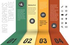 Mall för modern design för informationsdiagram stock illustrationer