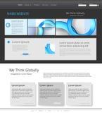Mall för modern website Arkivfoton