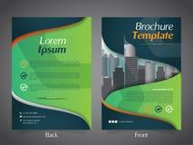 Mall för orientering för design för affärsbroschyrreklamblad - vektor Eps10 stock illustrationer