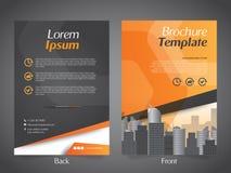 Mall för orientering för design för affärsbroschyrreklamblad - vektor Eps10 royaltyfri illustrationer