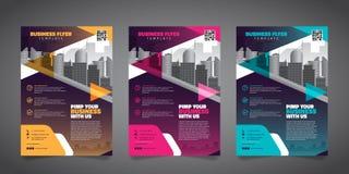 Mall för orientering för design för affärsbroschyrreklamblad - vektor Eps10 vektor illustrationer