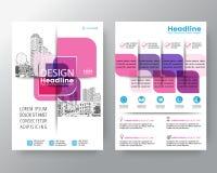 Mall för orientering för design för affisch för reklamblad för räkning för broschyr för vektor för beståndsdel för abstrakt rosa  royaltyfri illustrationer