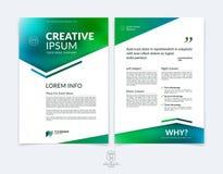 Mall för orientering för affärsbroschyr-, reklamblad- och räkningsdesign med b vektor illustrationer