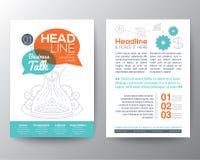 Mall för orientering för broschyrreklambladdesign med affärsidé Arkivfoton