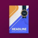 Mall för orientering för design för räkning för affärsbroschyrreklamblad färgrik i formatet A4, med första designmallbakgrund Royaltyfri Fotografi