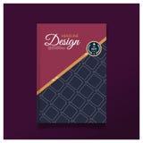 Mall för orientering för design för räkning för affärsbroschyrreklamblad i formatet A4 Royaltyfria Foton