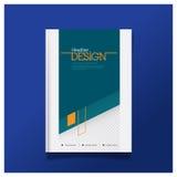Mall för orientering för design för räkning för affärsbroschyrreklamblad i formatet A4 Arkivbilder