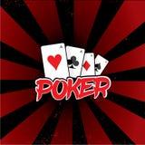 Mall för pokerturneringlogo Arkivfoton