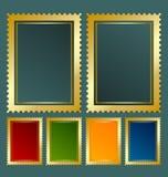 mall för portostämpel Arkivbild