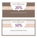Mall för presentkort (presentkort, kupong) Fotografering för Bildbyråer