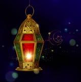 Mall för Ramadan hälsningskort Arkivfoto