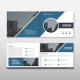 Mall för reklamblad för broschyr för broschyr för Blue Circle vektorårsrapport vektor illustrationer