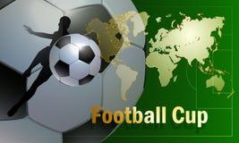 Mall för reklamblad för fotbollsportmästerskapsmatch Royaltyfri Bild