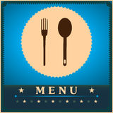 mall för restaurang för meny för format för kortdesign lång Royaltyfria Bilder