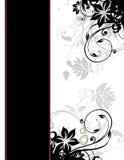 mall för sida för kanträkning elegant blom- Royaltyfria Bilder