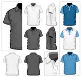 mall för skjorta för designmanpolo s Arkivfoto