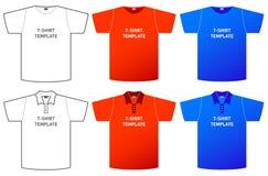 mall för skjorta t Royaltyfri Foto