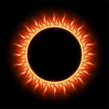 Mall för sol- förmörkelse 10 eps Arkivbild