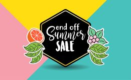 Mall för sommarbakgrundsdesign royaltyfri fotografi